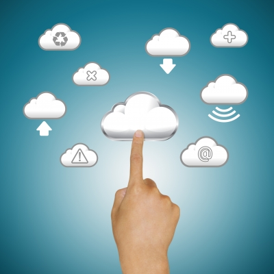 Finger Pushing Cloud Icons